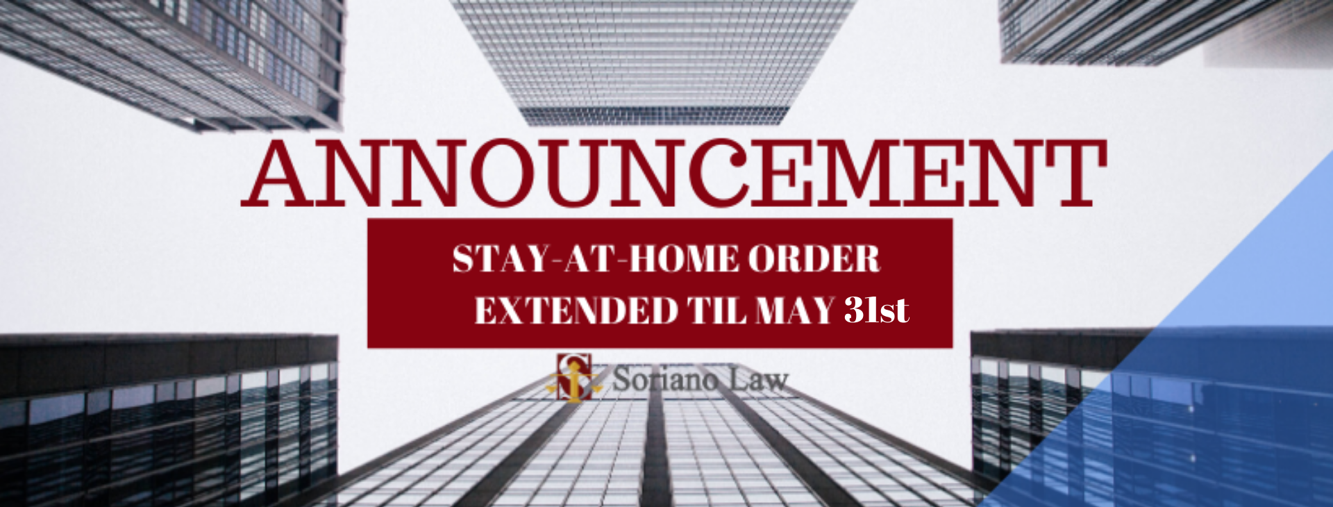 ANNOUNCEMENT ON STAY-AT-HOME ORDER